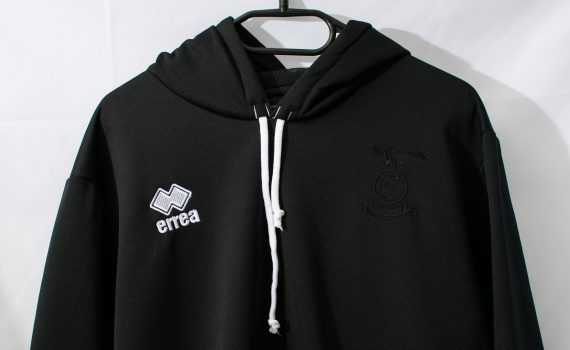 Tonal Crest New Black Errea Child Hoodie