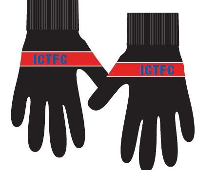 ICTFC Youth Black Gloves