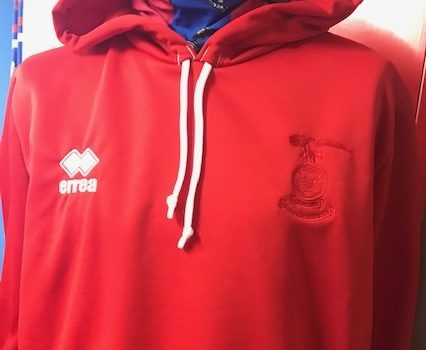 Tonal Crest New Red Errea Child Hoodie