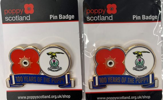 ICTFC 100 years Poppy Pin Badge